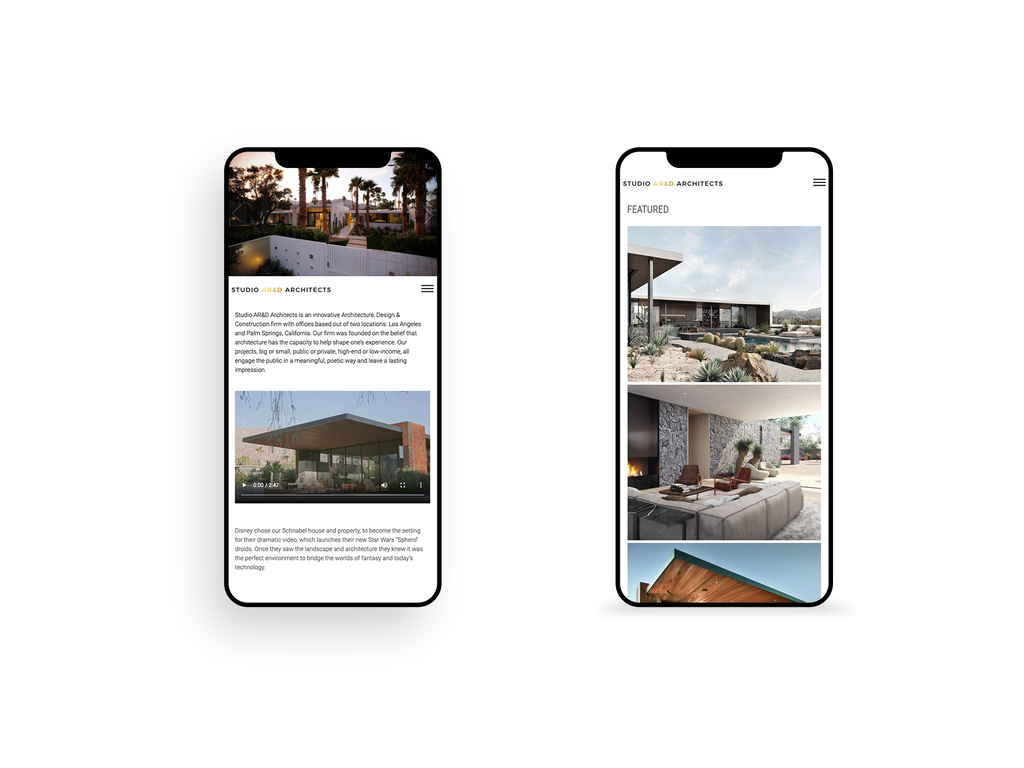 Screenshot of Mobile Homepage