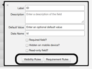 Location of conditional logic options