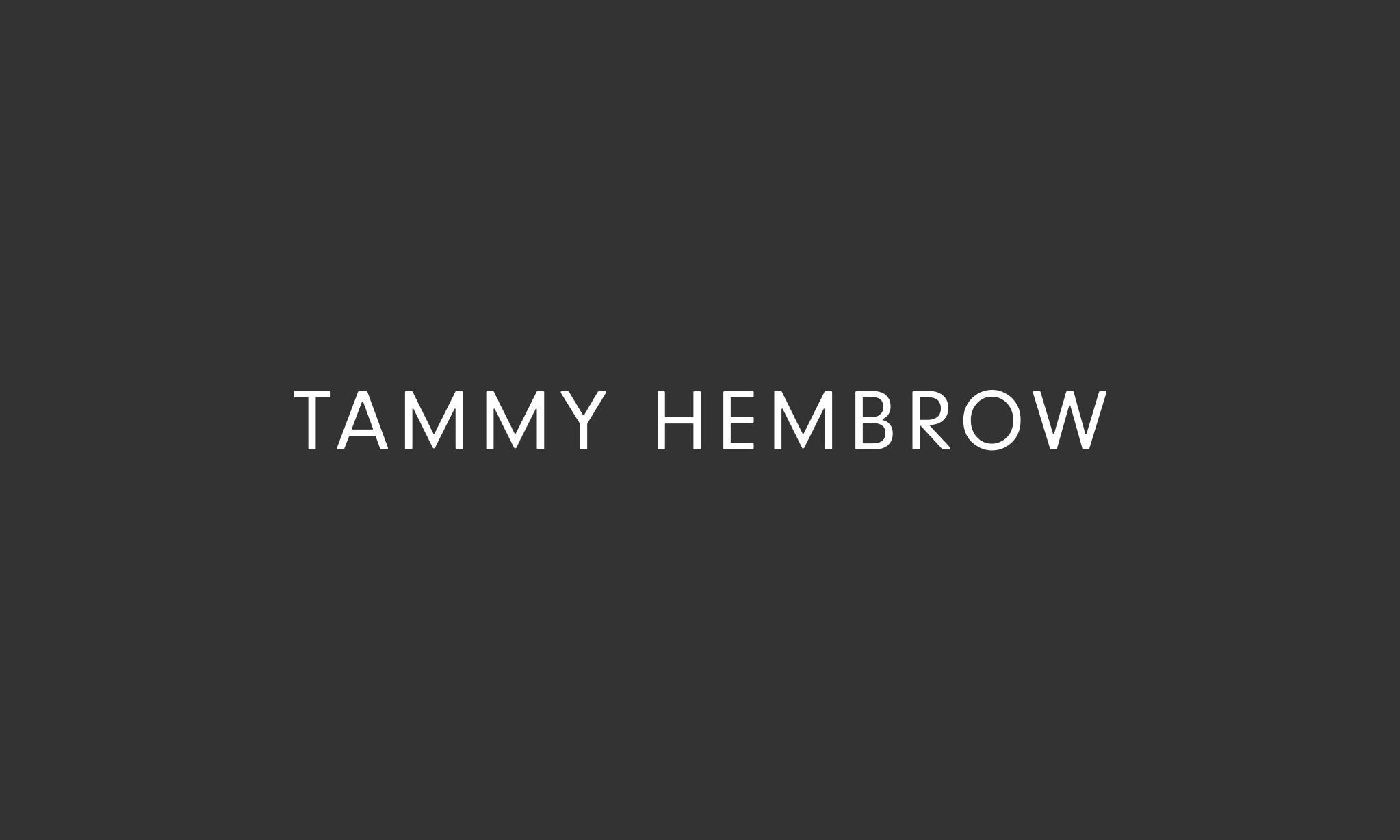 <p>Logotype and corresponding logomark for Tammy's personal brand.</p>