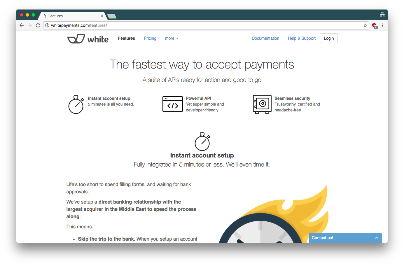 White Payments - Features