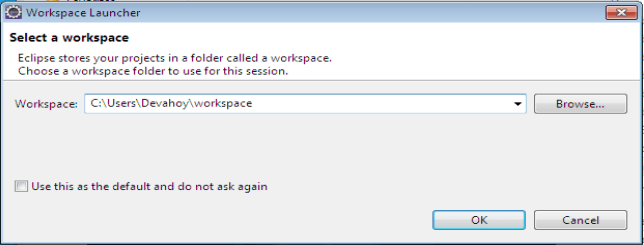 เลือก Workspace