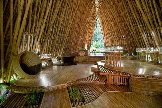 Magic Green - Bamboo Buildings In Bali