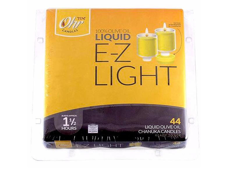 E-Z Light Liquid Olive Oil Lights 1.5 Hours (44 Pack)