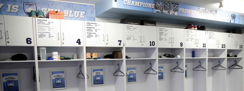 Sydney FC changing rooms