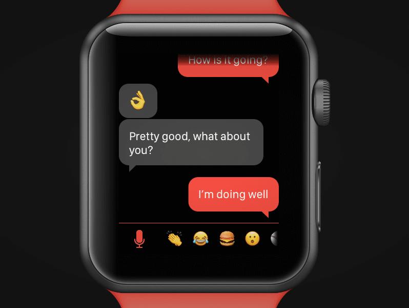 Watch message app