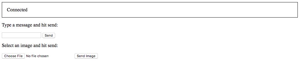 Sample JavaScript-enabled client for testing the WebSocket server
