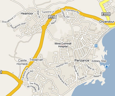 penzance map free