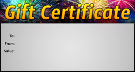 Gift Certificate Template New Year 01