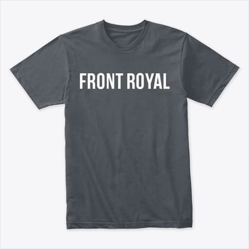 T-shirt with a different Front Royal logo