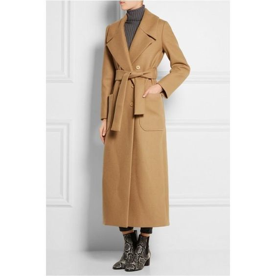 Manteau long beige