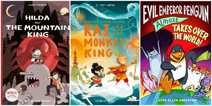 Hilda and the Mountain King, Kai and the Monkey King, Evil Emperor Penguin (Almost) Takes Over the World!