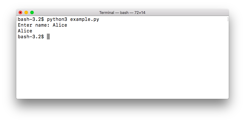 keyboard input from user