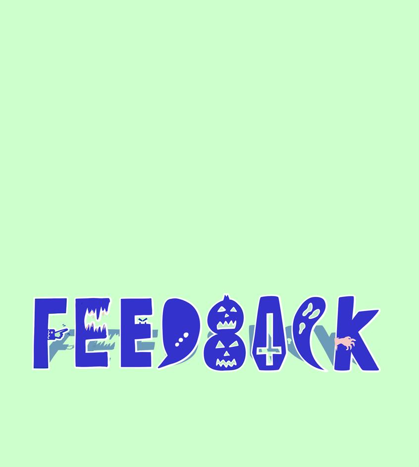 Halloween feedback lettering