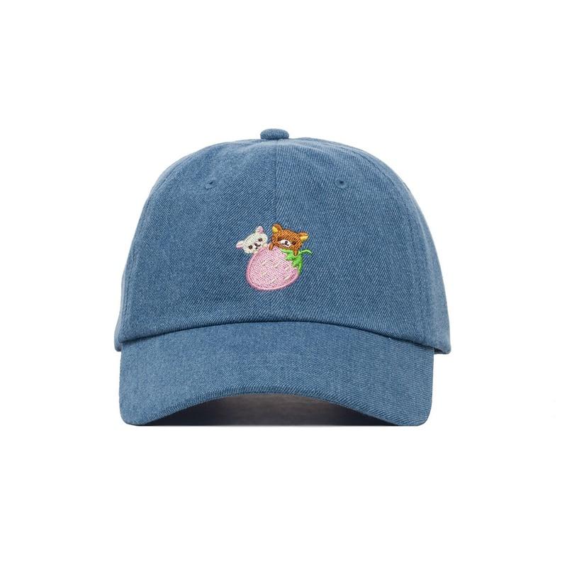 Rilakkuma Strawberry Denim Hat