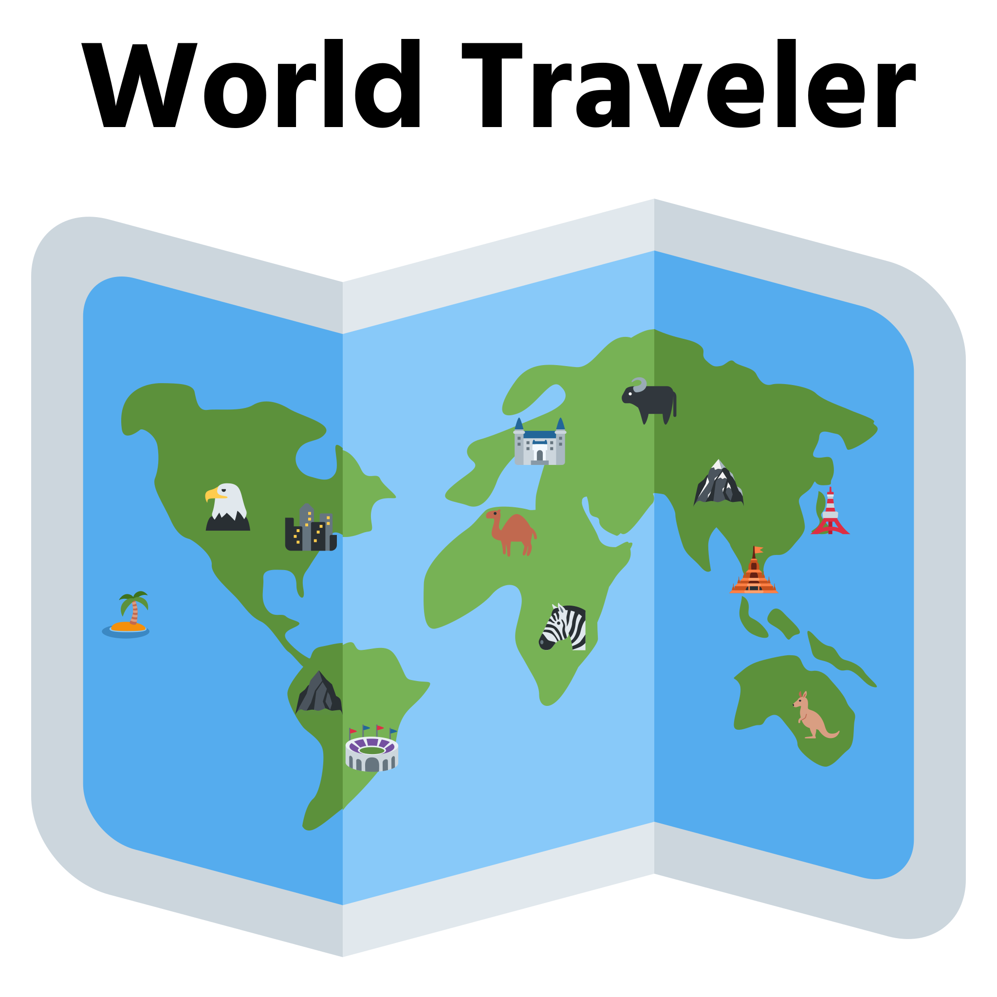Emoji Riddles™: World Traveler by Sidework AI