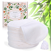 Stack of fabric makeup remover pads