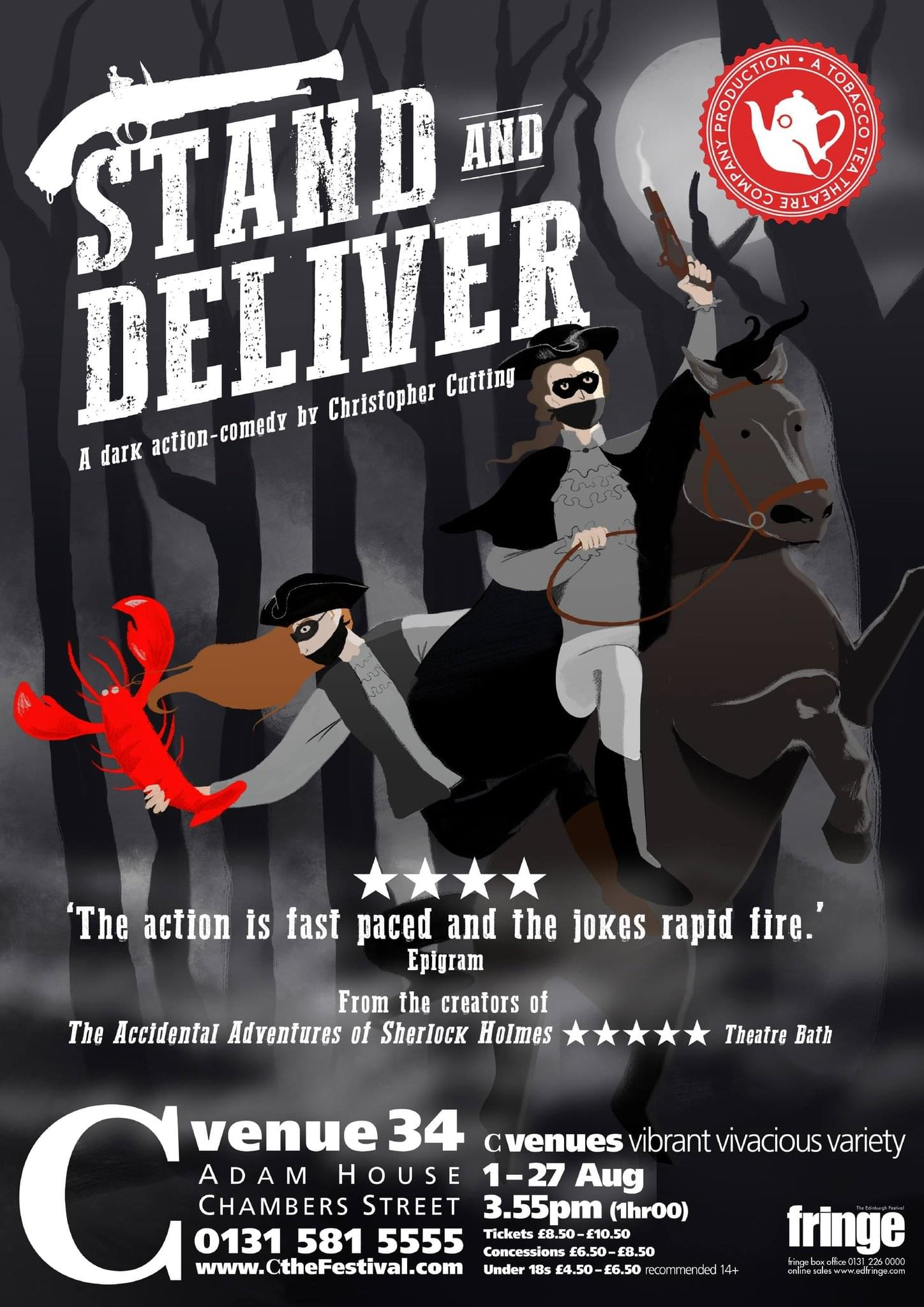 Poster for Stand and Deliver, by Christopher Cutting