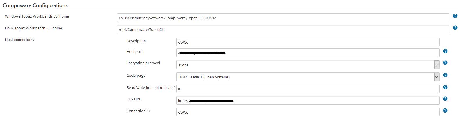 Compuware configuration