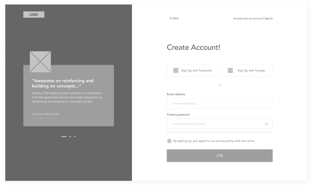create account low