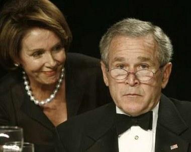 Pelosi & Bush