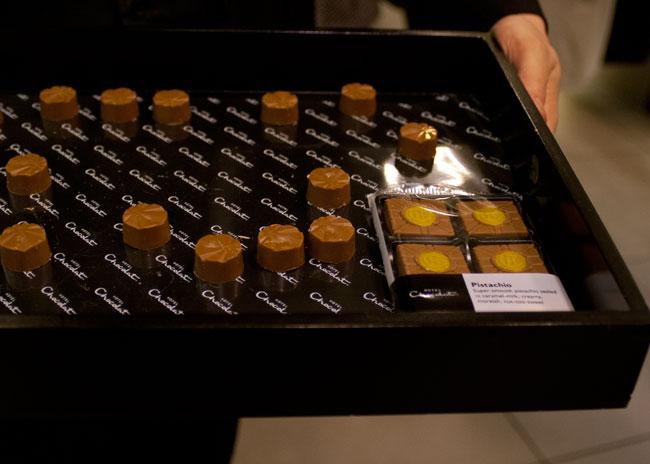 pistachio truffles, hotel chocolate