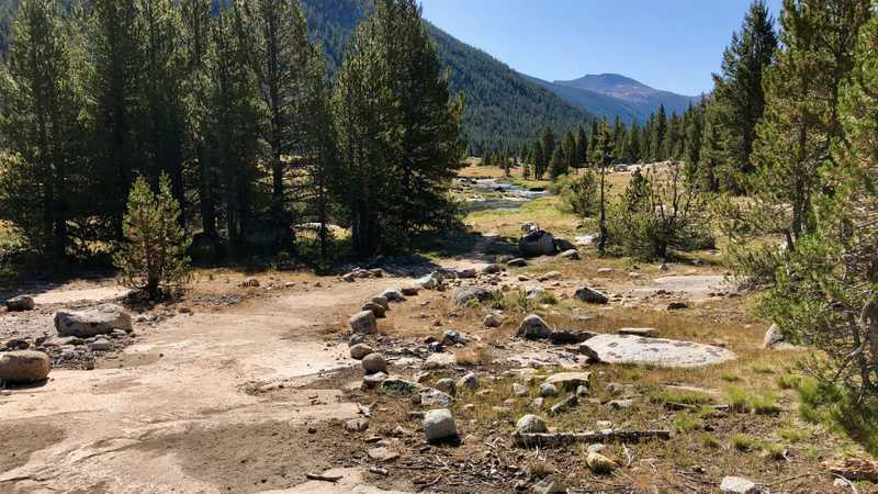 Improved trail in Lyell Canyon