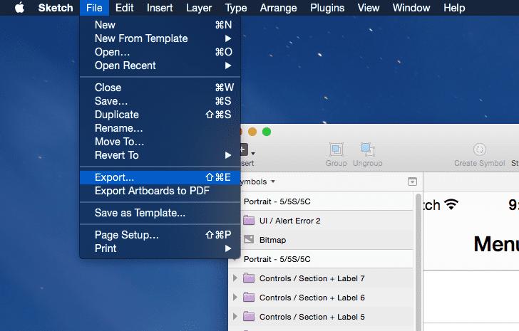 Sketch 3 File Export