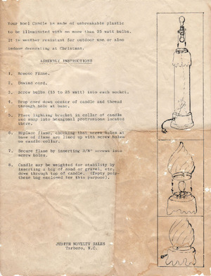 Empire Noel Candle #1365 Instruction Manual.pdf preview