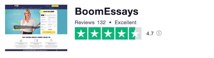 boomessays.com rating on trustpilot.com