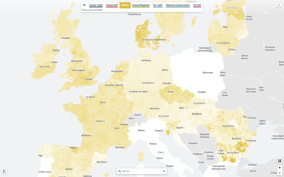 Liberal Party Strongholds in Europe