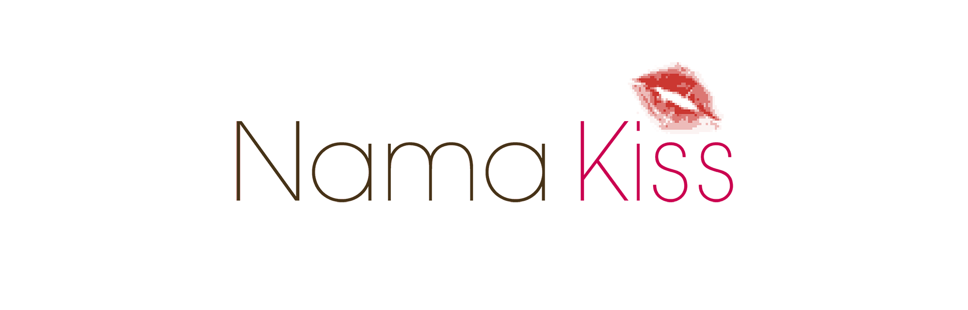 NamaKiss logo with a small kiss mark above the title