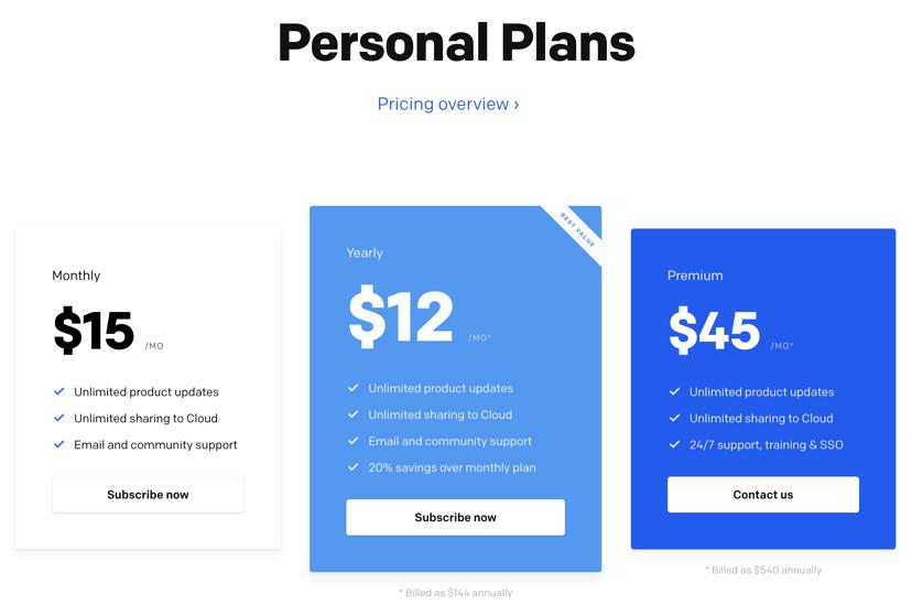 Framer personal plans