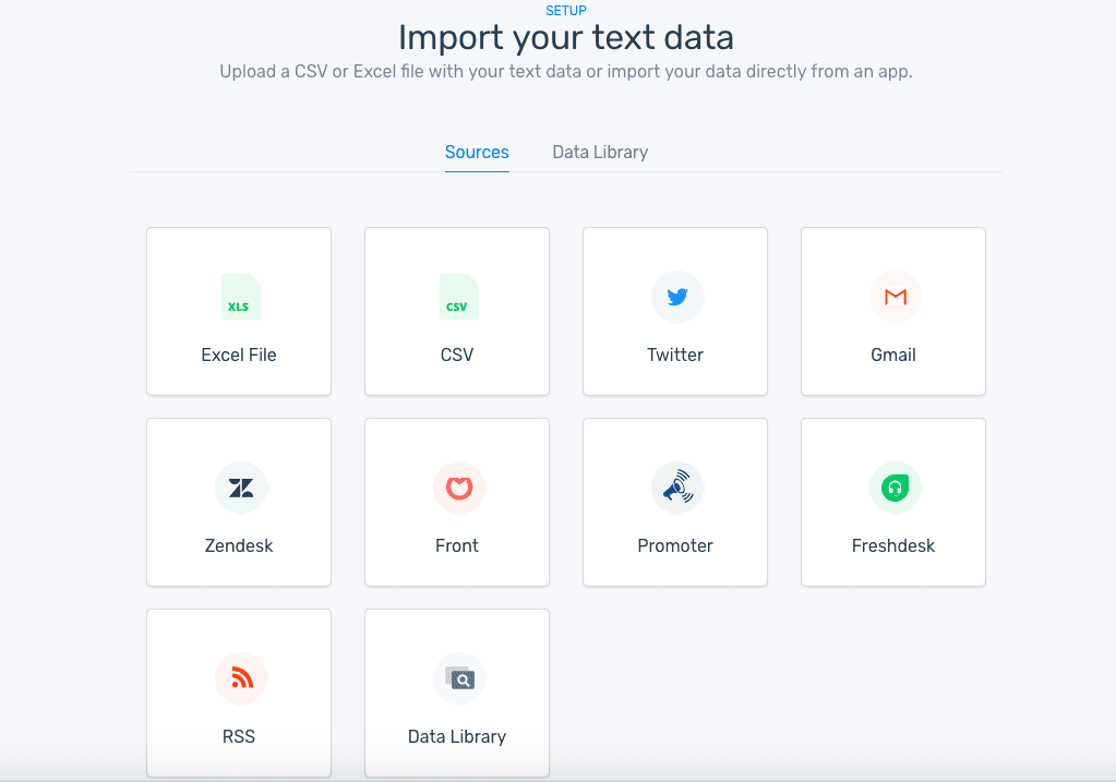 Import your text data