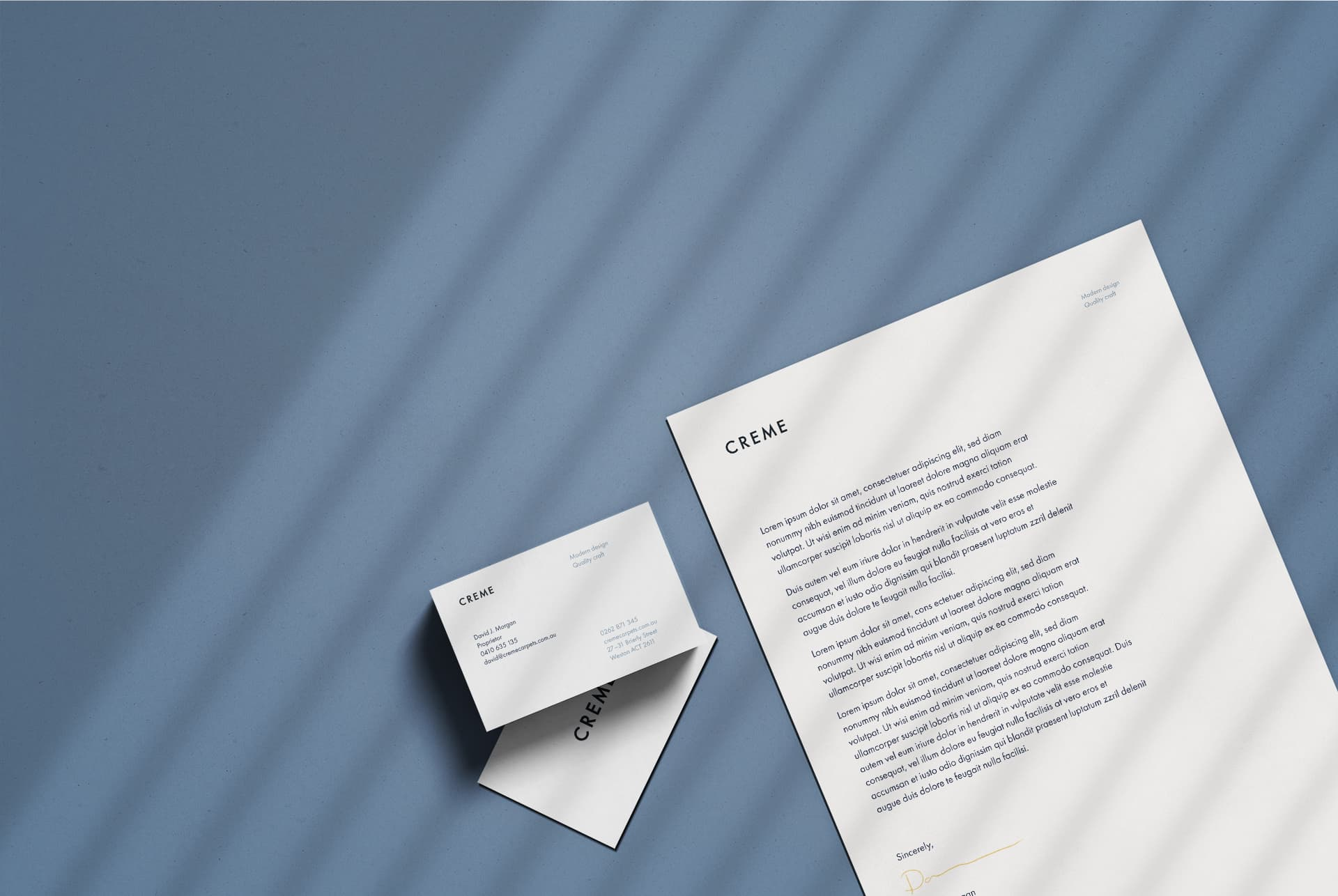 Luxury letterhead and invoice design