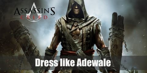 Adewale style is very dark and assassin-like, though his past as a pirate shines through nonetheless. His most iconic outfit is very complex and consists of many straps, sheaths, and layers