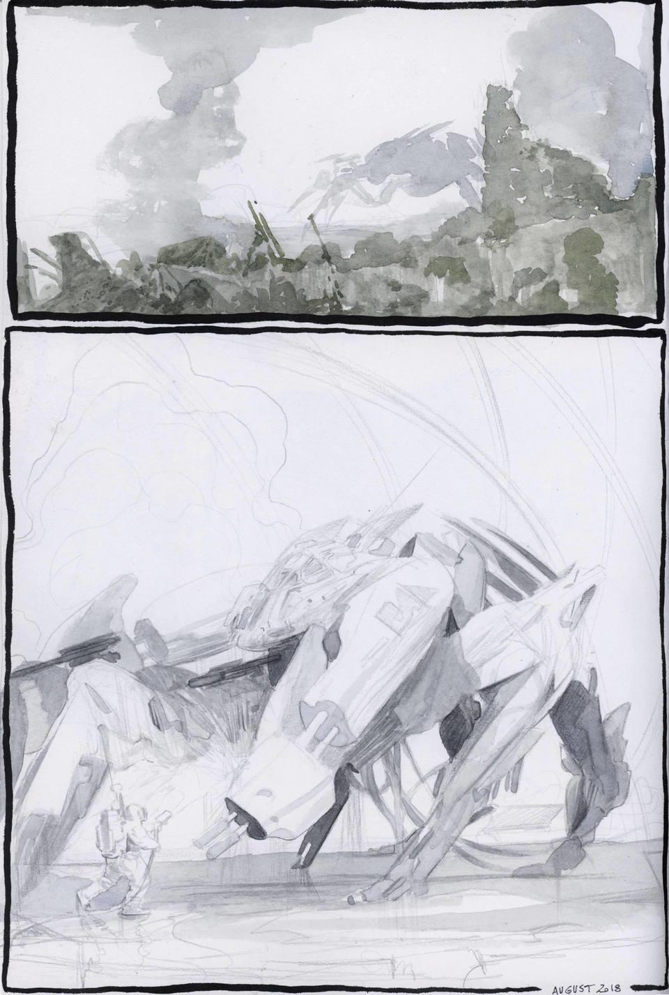 Mecha Decontamination, from sketchbook