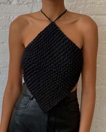 Knitted Halterneck Top