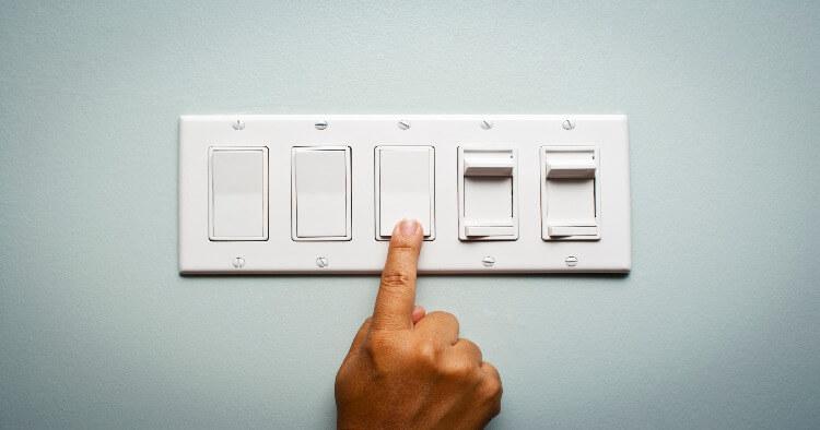 Pressing Light Switch