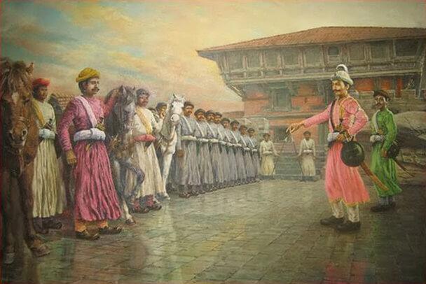 Pritivi Narayan Shah when unifying Nepal