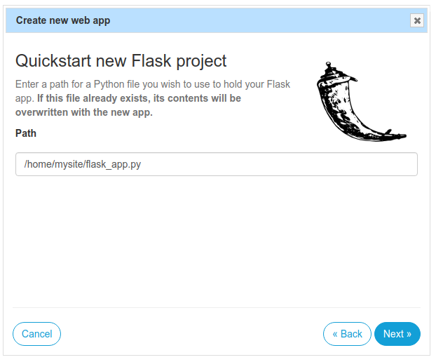 start Python flask app