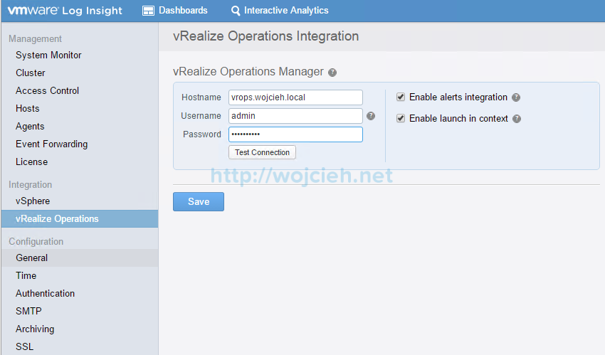 VMware vRealize Log Insight - Installation and Configuration - 27
