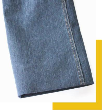 Ourlet thermocollant sur pantalon