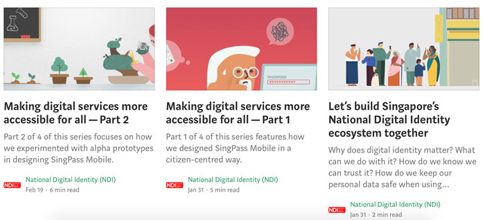 A screenshot of the National Digital Identity blog