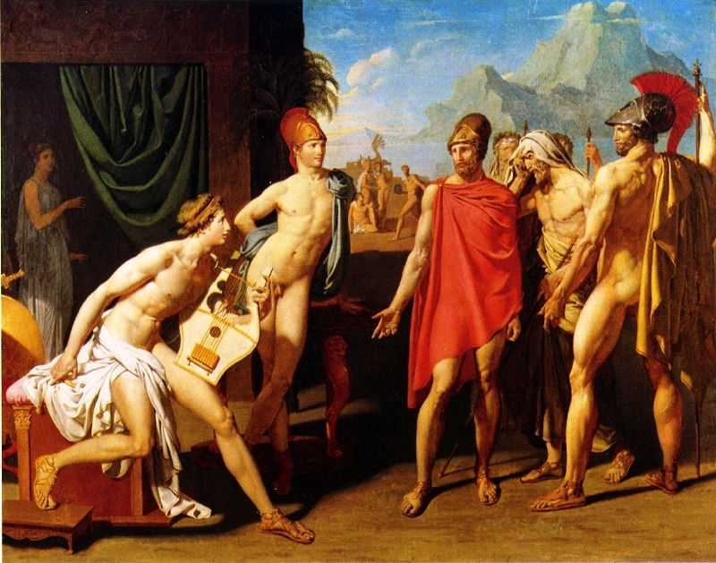 Ambassadors Sent by Agamemnon to Urge Achilles to Fight, 1801 by Jean-Auguste-Dominique Ingres, École nationale supérieure des Beaux-Arts (ENSBA), Paris, France