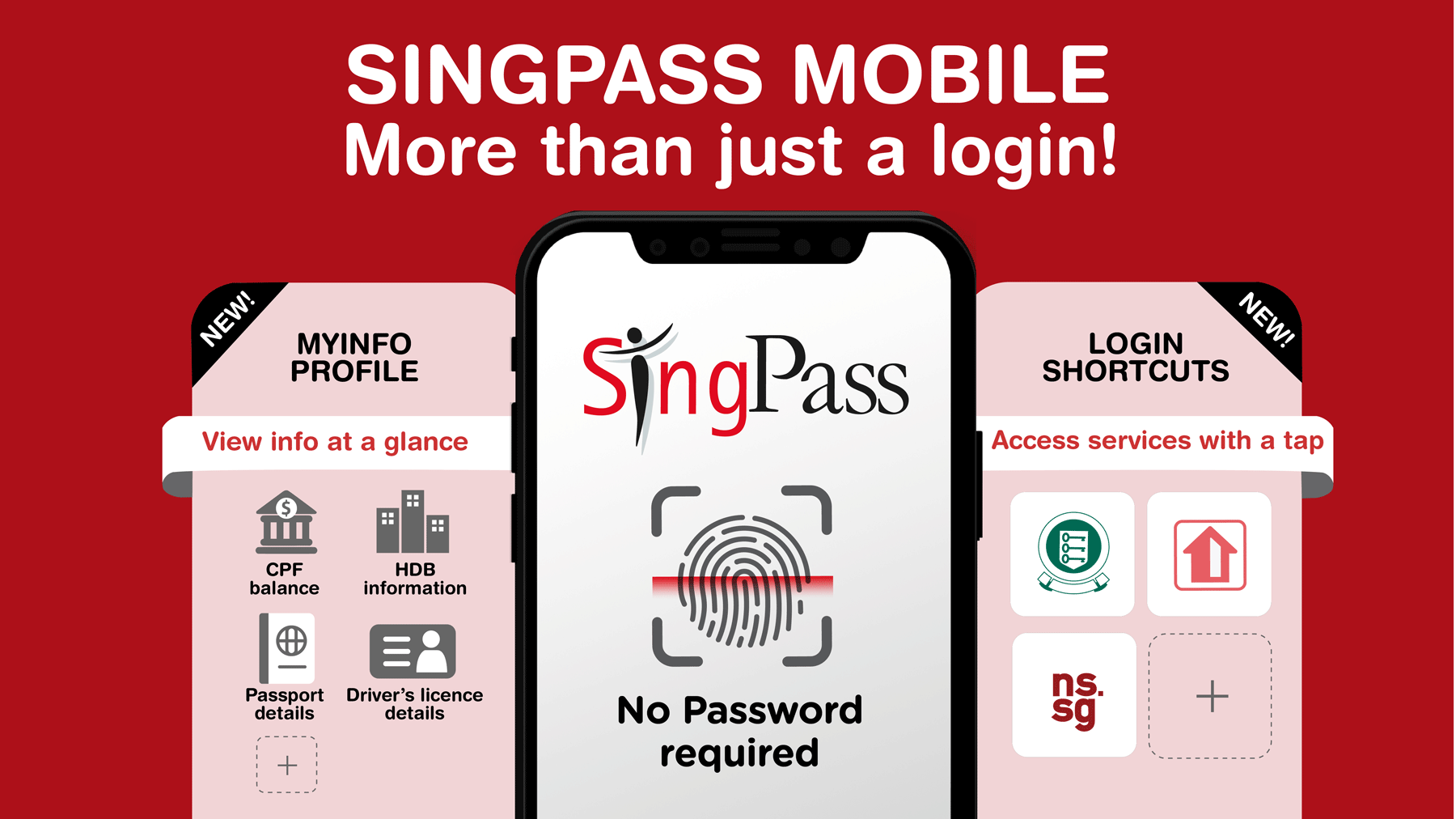 SingPass Mobile App built by GovTech for a Smart Nation