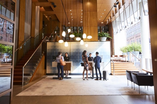 The lobby of the Le Germain Toronto