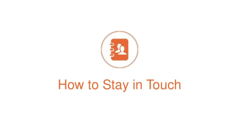 Power up your contacts, webinar #3 – Stay in touch with key contacts