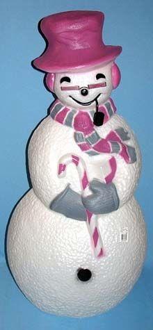 Magenta Snowman photo