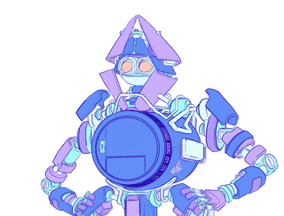 Illustration of a robot with a vault for a body, representing an Ethereum wallet.