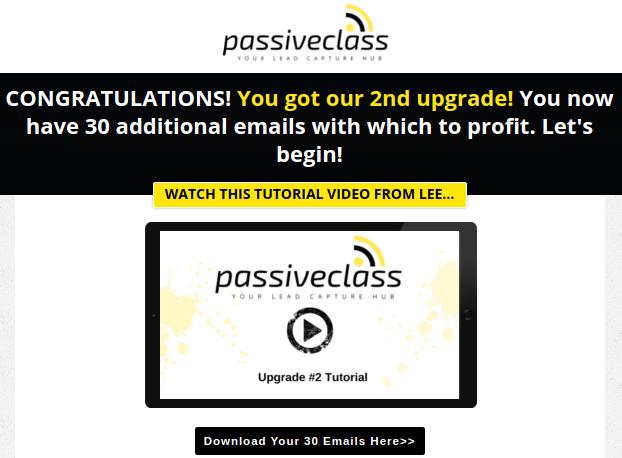 PassiveClass - OTO 2 - 30 DFY Emails